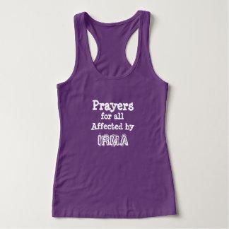 Orações para toda afetado pela camisa de IRMA