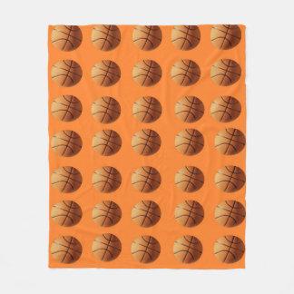 Orange_Basketball_Fleece_Blanket. Cobertor De Velo