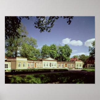 Orangery dos jardins botânicos impressão