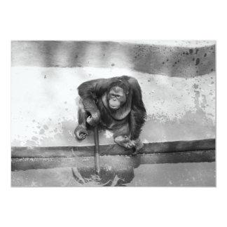 Orangotango Convite 12.7 X 17.78cm