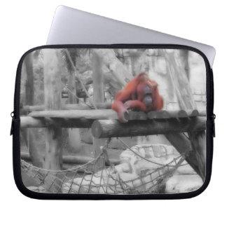 Orangotango da mãe e do bebê capas para laptop