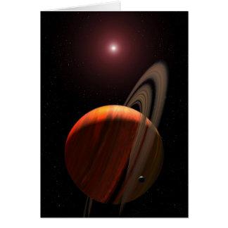 Orbitando uma estrela de anão vermelho cartao