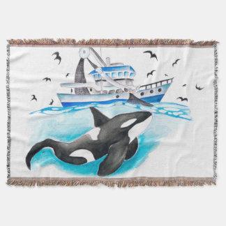 Orca e o barco de pesca lençol