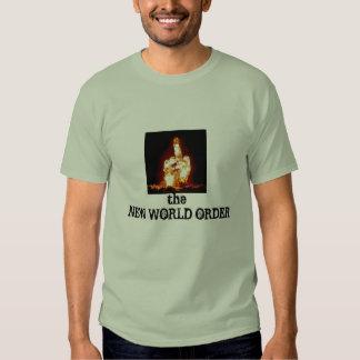 ORDEM MUNDIAL NOVO da nuvem atômica do dedo médio Tshirts