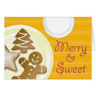 Ordenhe a feliz dos biscoitos & o feriado doce das cartões