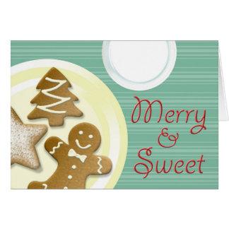 Ordenhe a feliz dos biscoitos & o feriado doce das cartao