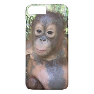 Órfão bonito do orangotango do bebê da bolha em capa iPhone 8 plus/7 plus