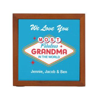 Organizador fabuloso da mesa da avó de Las Vegas