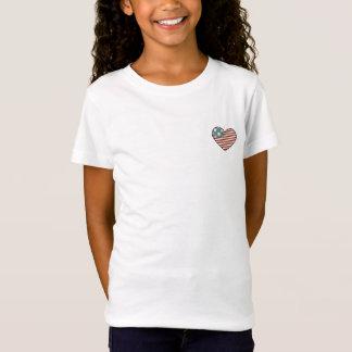Orgulho-Coração americano bandeira dada forma Tshirts