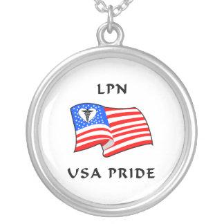 Orgulho de LPN EUA Colar Com Pendente Redondo