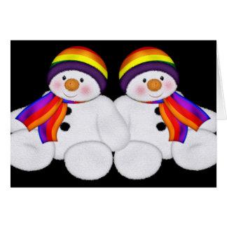 Orgulho do boneco de neve cartão comemorativo