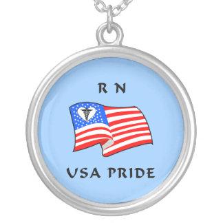 Orgulho do RN EUA Colar Com Pendente Redondo