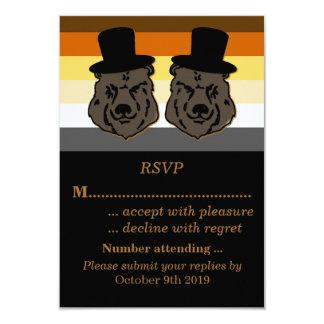 Orgulho do urso que Wedding o ouro e o preto de Convite 8.89 X 12.7cm
