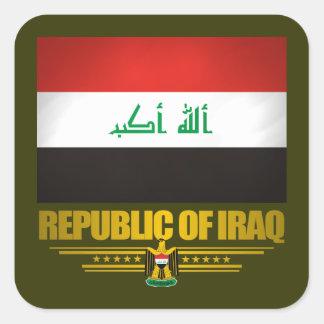 """""""Orgulho iraquiano """" Adesivo Quadrado"""