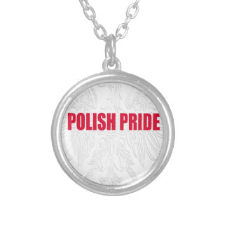 Orgulho polonês colar com pendente redondo