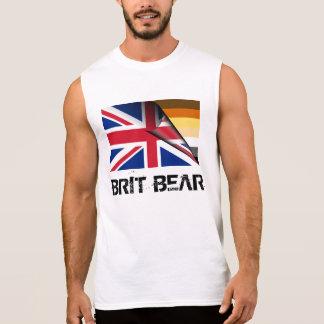 Orgulho Union Jack do urso do Británico do Grunge Camisa Sem Mangas