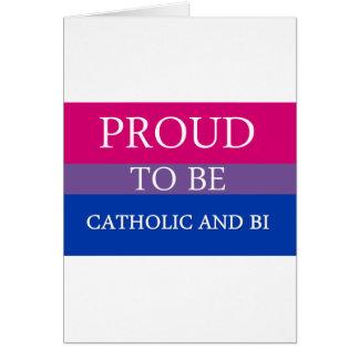 Orgulhoso ser católico e Bi Cartão Comemorativo