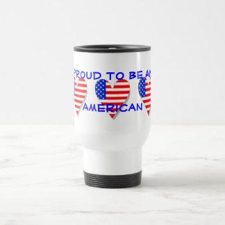 Orgulhoso ser uma caneca americana do coração