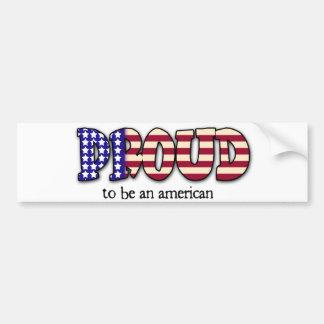 Orgulhoso ser uma etiqueta americana adesivo para carro