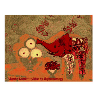 Orig. Foto--Elefante vermelho e alaranjado Cartão Postal