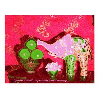 Orig. Foto--Maçãs do elefante cor-de-rosa w/Green Cartão Postal