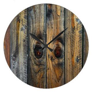 Original legal da textura de madeira relógio grande