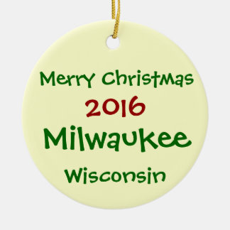 ORNAMENTO 2016 do FELIZ NATAL de Milwaukee