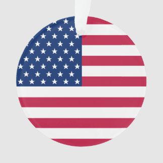 Ornamento A bandeira dos EUA Stars o Natal patriótico de