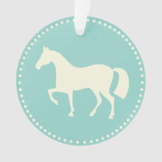 Ornamento acrílico da silhueta do cavalo/pônei