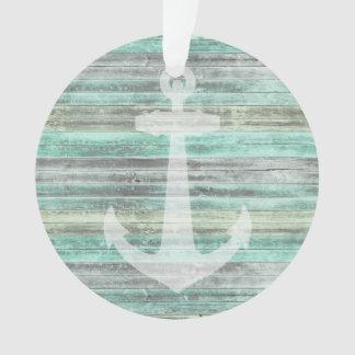 Ornamento Âncora litoral rústica da decoração