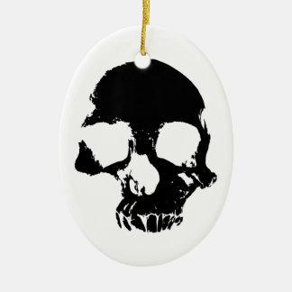 Ornamento assustador decorativo do crânio