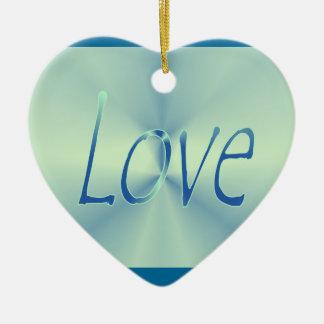 Ornamento azul do amor do coração