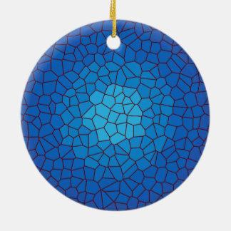 Ornamento azul dos >Xmas do design do vitral