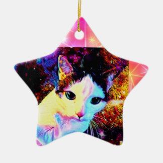 Ornamento bonito colorido do disco do gatinho da