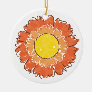 Ornamento bonito da flor - laranja