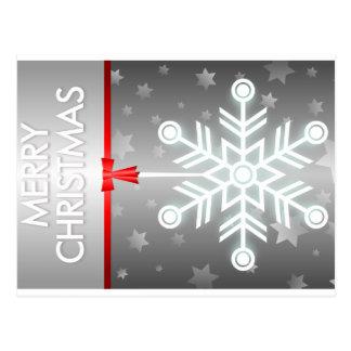 Ornamento bonito do floco de neve com fita cartão postal