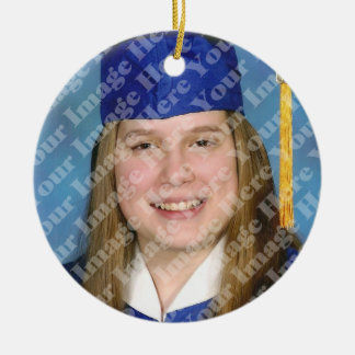 Ornamento branco da lembrança da graduação da