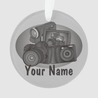 Ornamento Câmera personalizada do fotógrafo do Shutterbug
