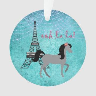 Ornamento Cavalo personalizado do cinza do La do La do pônei