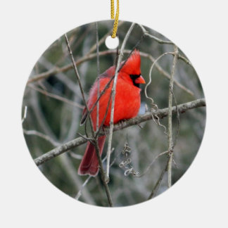 Ornamento cerâmico cardinal vermelho real