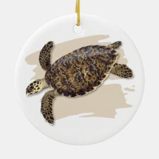 Ornamento cerâmico da tartaruga de mar de