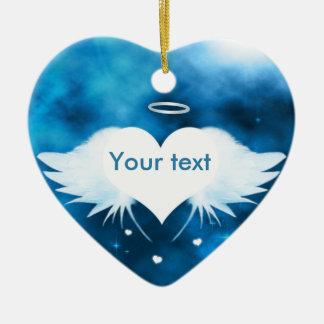 Ornamento cerâmico do coração - anjo do coração