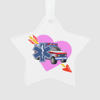 Ornamento Coração do EMS do cuidado