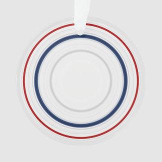 Ornamento Cores patrióticas dos EUA em círculos Variegated
