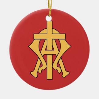 Ornamento cristão da árvore de Natal do símbolo