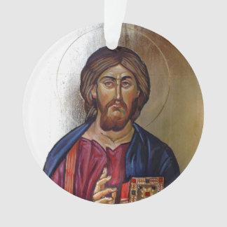 Ornamento Cristo Pantocrator e santo Mary Theotokos