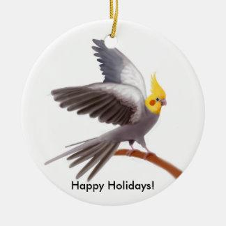 Ornamento customizável do papagaio do Cockatiel