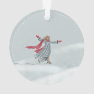Ornamento da alegria da neve