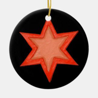 Ornamento da árvore da estrela de David de
