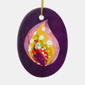 Ornamento da árvore de Natal da chama de vela